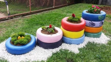 neumaticos reciclados para jardin