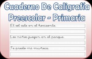 cuadernillos de caligrafia PDF