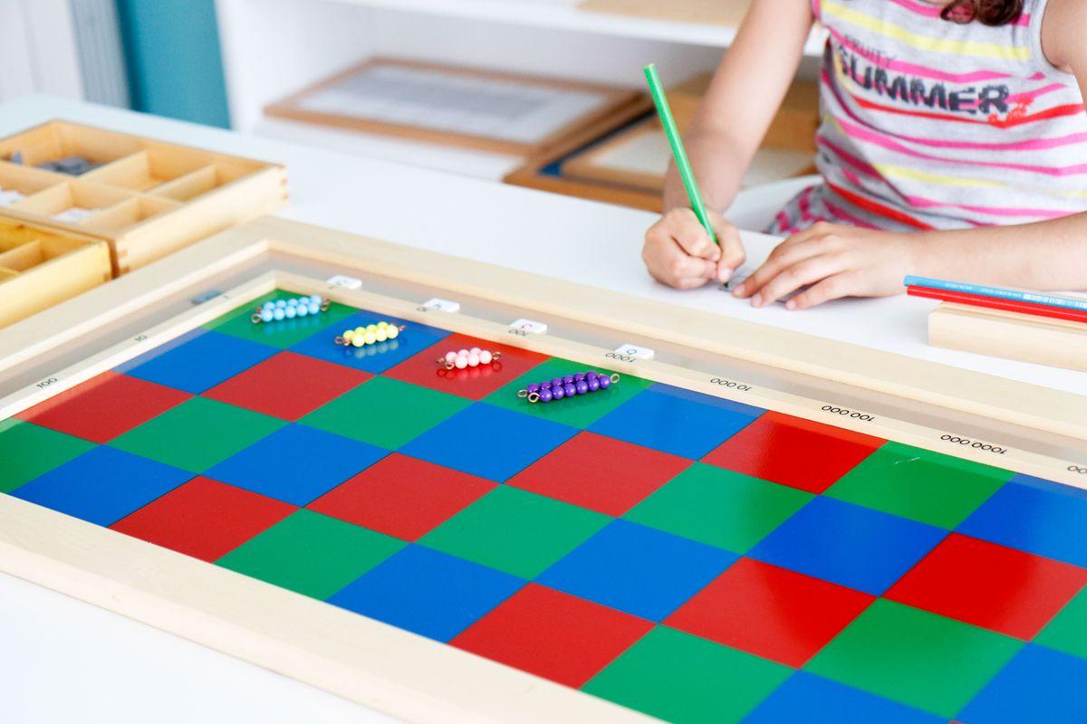 método montessori de multiplicar