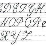 abecedario mayusculas caligrafia cursiva