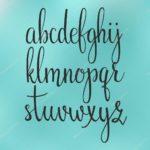 abecedario minusculas caligrafia cursiva