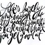 caligrafia artistica ejemplo