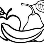 colorear bodegon de fruta