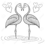 aves colorear corazones