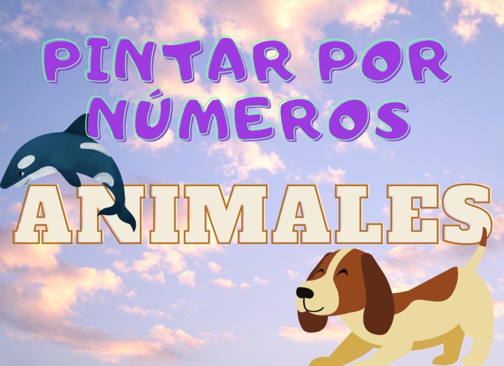 pintar animales por numeros