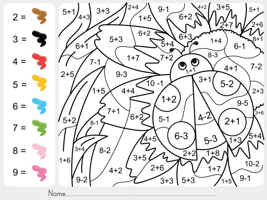 insecto pintar por numeros